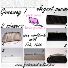Sofia Moore elegant purse giveaway on Fashion and Cookies