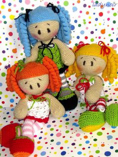 Anna Anuschka Anja, via Flickr.  (Crochet Lily Dolls)