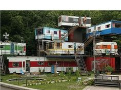 Vintage Trailers Stacked into a Vintage Trailer Mansion!