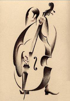 """""""Double Bass"""" by Oleg Ilydyukov (1966-)"""