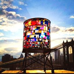 Glass water tower in Brooklyn, NY   <3