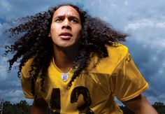 GUEST APPEARANCE: Troy Polamalu (Samoan/American). Professional Football Player