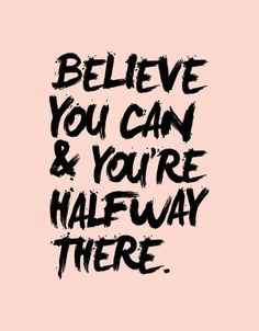 Typography Art Believe You Can and You're by TheMotivatedType