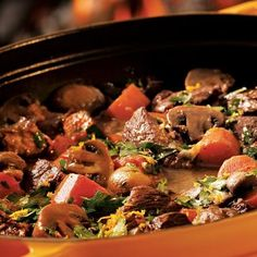 Slow-Cooked Provencal Beef Stew: The flavors in a slow-cooked beef stew improve as it sits for a day or two, so it is a perfect make-ahead for a dinner party. Buy nicely marbled meat, such as chuck, for this recipe. Dutch Oven Cooking, Dutch Oven Recipes, Crock Pot Cooking, Cooking Tips, French Recipes, Cooking Recipes, Best Slow Cooker, Slow Cooker Recipes, Crockpot Recipes
