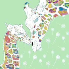 baby girl nursery giraffe art nursery art print by OzscapeDesigns, $18.75