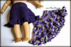 Free Crochet Pattern ~Doll Skirt http://www.niftynnifer.com/2015/04/free-crochet-pattern-dollys-spring-time.html