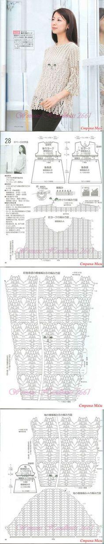 Ажурный пул по японским схемам - Страна Мам
