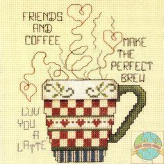 Janlynn - Friends and Coffee - Cross Stitch World