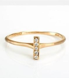 Catbird :: shop by category :: JEWELRY :: Wedding & Engagement :: Non-traditional :: Vertical Bar Ring, White Diamond Jewelry Rings, Jewelry Accessories, Gold Jewellery, Jewelry Ideas, Silver Jewelry, Jewelry Design, Diamond Bar, Diamond Are A Girls Best Friend, Swagg