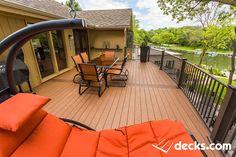 Deck by Creative Concepts & Design of Kansas City Decking Material, Deck Builders, Backyard Decks, Patio, Custom Decks, New Deck, Deck Plans, Building A Deck, Outdoor Furniture Sets