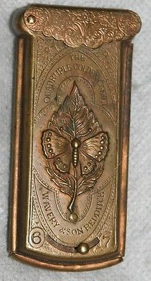 ANTIQUE c1868 VICTORIAN SEWING QUADRUPLE AVERY NEEDLE CASE