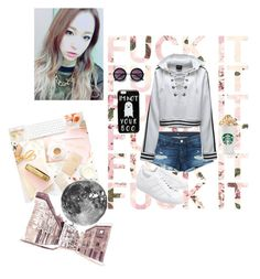 """""""I'm okay even I get hit, fall down, Or get a fracture on my bone Even you say something mean to me I don't cry"""" by maknae-anons ❤ liked on Polyvore featuring 3x1, adidas Originals, Puma and ASOS"""