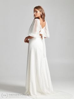 Rebecca Schoneveld 2020 Spring Bridal Collection – The FashionBrides Wedding Gowns With Sleeves, Boho Wedding Dress, Tulle Wedding, Tulle Bows, Bridal Pictures, Traditional Wedding Dresses, Nontraditional Wedding, Long Ties, Bridal Collection