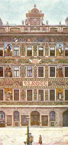 File:Rottuv dum v Praze. Czech Republic, City Photo, Country, Artist, Travel, Cities, Design, Bohemia, Prague