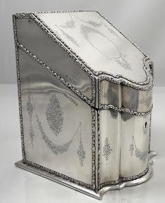 Massive English Sterling Stationery Box Elkington 1905