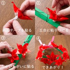 超キュート❤モアナ風の花かんむりを折り紙で作ろう! - 暮らしニスタ