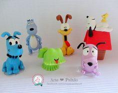 Cachorrinhos de desenhos animados