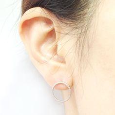 New Fashion Earrings Jewelry Brushed Open Circle Stud Earrings for Women Party Earrings  S022