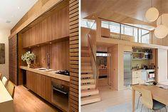 ¿Necesitas ganar espacio? ¿No sabes dónde situar la cocina? ¿Y si pudieses esconderla dentro de un armario? Por muy increíble que te parezca, es posible. Hoy en Decofilia os traemos una de las tendencias que más en auge se encuentran, las cocinas ocultas y sus variantes ¡Te sorprenderán! Loft, Bed, Furniture, Home Decor, Folding Doors, Hidden Kitchen, Built In Cabinets, Lofts, Stream Bed