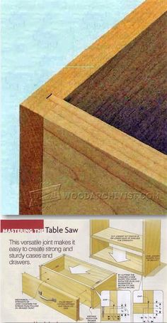 #1599 Tongue and Dado Joint - Drawer Construction Techniques | WoodArchivist.com