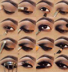 Nice visual step-by-step eyeshadow application. I think the top outer corner could be blended a little better, but good for beginners overall