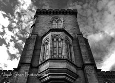 Smithsonian Castle Black and White Photography Clouds Washington DC