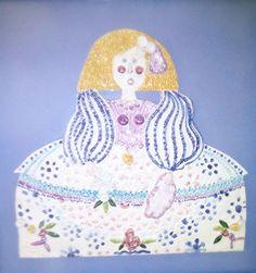 Menina. Handmade and painted clay. 1997.  Menina. Fang cuit i pintat a mà. 1997.