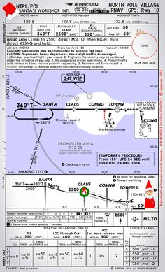North Pole RNAV Approach :A little Christmas humor! To bad the warrior doesn't have IFR certified  GPS.