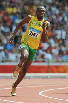 Usain Bolt, Jamaican sprinter who won gold medals in the and races in an unprecedented three straight Olympic Games. Usain Bolt Biography, Usain Bolt Pose, Usain Bolt Running, 2004 Olympics, Athletic Events, Olympic Athletes, Fastest Man, Fit Board Workouts, Action Poses