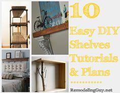 10 Easy DIY Shelves Tutorials, Plans, and Ideas