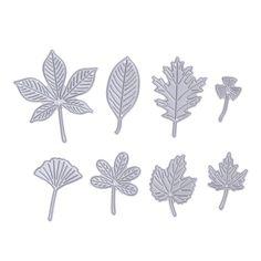 8pcs/set Leaves Metal Cutting Dies for Scrapbooking Photo Album Decorative Embossing Dies Paper Cards Die Cut Stencils Template