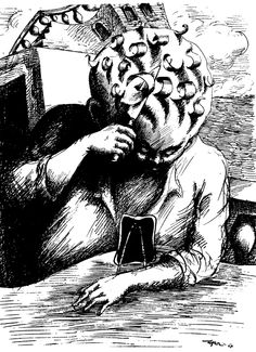 Roland topor, Werner Herzog'un Hosferatu'sunda Renfield rolünde. Statues, Illustrations, Illustration Art, Perez Garcia, Futurism Art, Abstract Sketches, Werner Herzog, Sketch Inspiration, Black And White Drawing