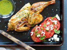 Herb Brined Chicken with Tomato Basil Salad Prep Time: 20 minutes ...
