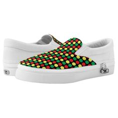 Traffic lights Slip-On sneakers - patterns pattern special unique design gift idea diy