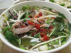 Beef pho soup.