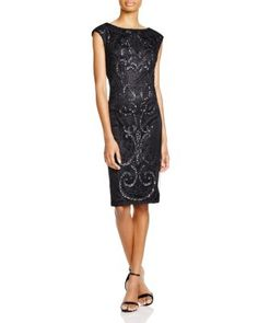Sue Wong Sleeveless Embellished Sheath Dress | Bloomingdale's