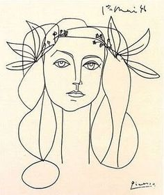 Pablo Picasso drawing of Francoise Gilot - the only woman to survive a… Picasso Sketches, Art Picasso, Picasso Drawing, Painting & Drawing, Picasso Tattoo, Picasso Prints, Picasso Paintings, Oil Paintings, Matisse Tattoo