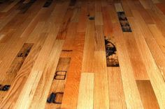 Floor made from recycled whiskey barrels