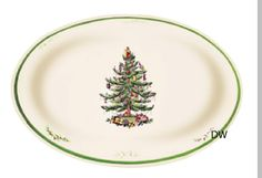 Christmas Tree Oval Dish 10.5 in.