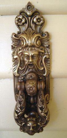 Our antique door knocker - very loud.