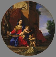 Simon Vouet (French, 1590–1649). The Holy Family with the Infant St. John the Baptist, 1626, Legion of Honor Museum, San Francisco, California