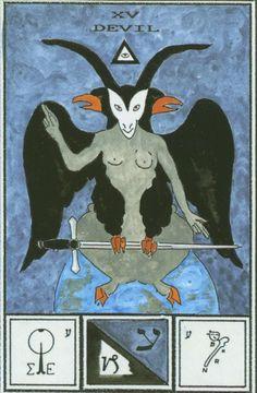 Ceremonial Magick:  Atu XV -- The Devil, Tarot of #Ceremonial #Magick.