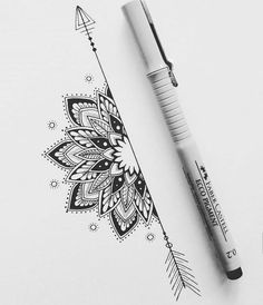 19 Ideas Tattoo Mandala Rose Design Beautiful For 2019 Tattoo Design Drawings, Cool Art Drawings, Pencil Art Drawings, Art Drawings Sketches, Tattoo Designs, Tattoo Ideas, Drawing Ideas, Inspiration Tattoos, Design Inspiration