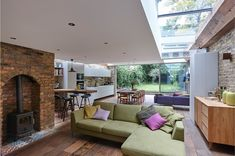 Ultra-Modern Cabin Blends Rustic Warmth With Modern Minimalism Modern extension of semi detached house in North London House Design, Mediterranean Homes, House, Modern Cabin, Home, Outdoor Space Design, Terrace House, Modern House, Modern Extension