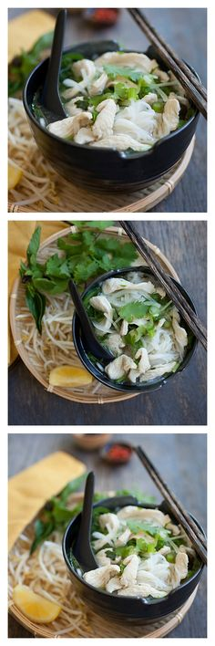 Chicken Noodle Soup, Vietnamese Pho Ga, so hearty and yummy, and easier to make than you think | rasamalaysia.com