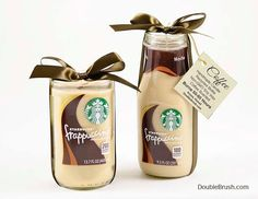 Coffee Wedding or Coffee Engagement Starbucks Gift Set of 2 Candles