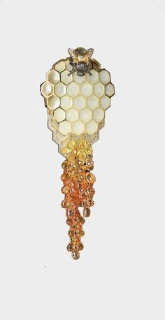 terramantra: Bee, honeycomb and honey jewel by Ilgiz Fazulzianov.