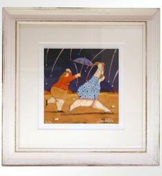 "Lisandro Rota (1946), ""Piovono desideri"" Giclée ritoccata a mano, cm 17,5X17,5 cm (+ cornice 37X37) tiratura 200 es.  € 100,00 cornice artigianale inclusa"