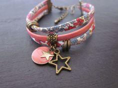 Bracelet avec ruban liberty