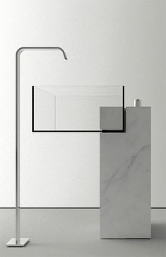 """Invisible sink"" designed by Victor Vasilev. Out of marble and glass."